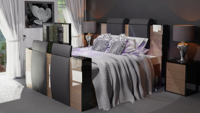 TV Bed with Ultra HD TV